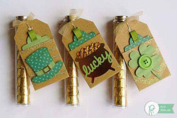 St. Patrick's Day Treats by Mendi Yoshikawa using various @PebblesInc. collections. @SnippetsByMendi