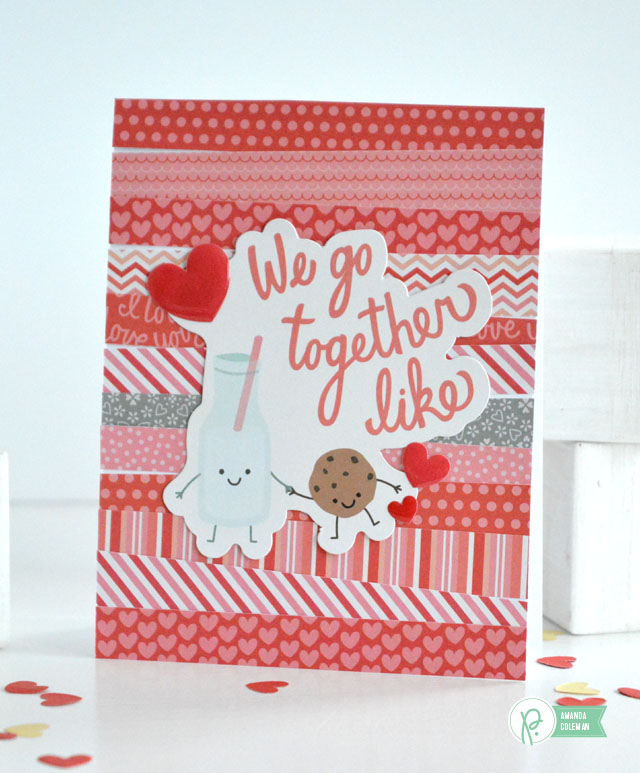 Valentine's Day cards using scraps by @popperandmimi using We Go Together by @pebblesinc