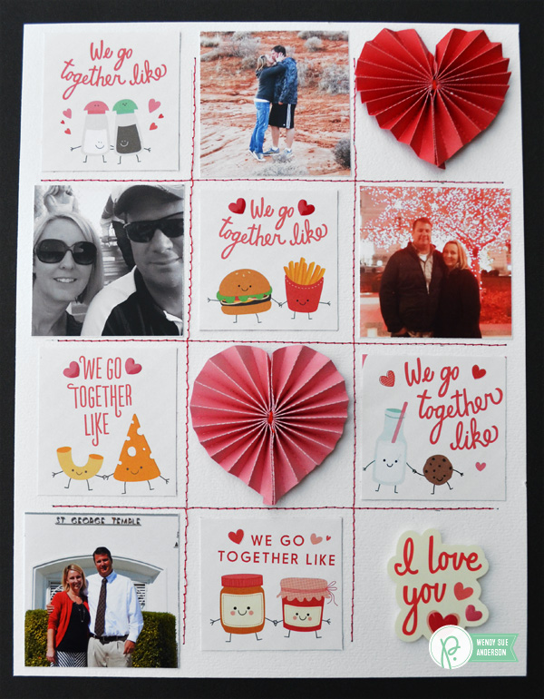 Valentine's Day layout  @wendysuea featuring the  We Go Together collection by @pebblesinc