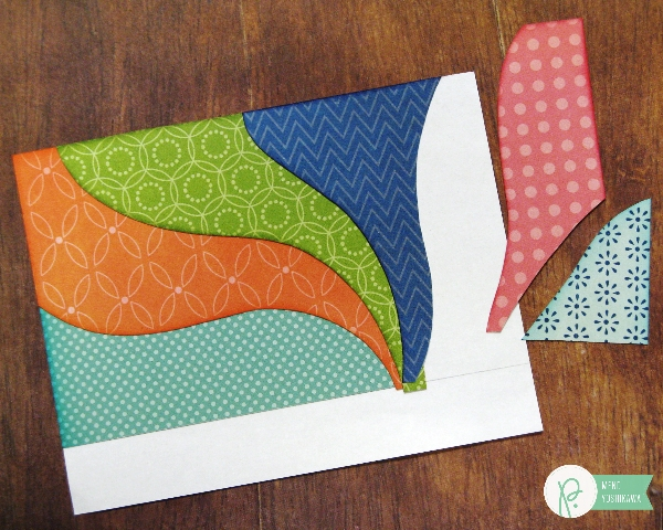 Paper-pieced Background Tutorial by Mendi Yoshikawa using the #HappyDay collection from @PebblesInc. @SnippetsByMendi