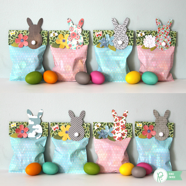 Hoppy Easter Treat Bags by @Renee Zwirek using the #HomeGrown, #HappyDay, #SpecialDelivery, and #JHCottageLiving collections by @PebblesInc. and and @Tatertots and Jello .com