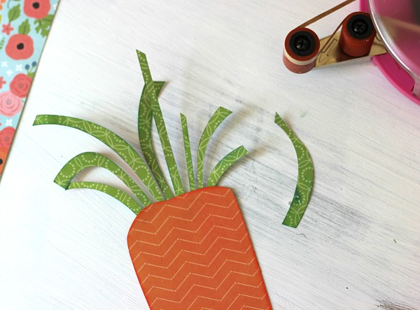 Spring Carrot  made with @silhouetteamerica and @pebblesinc Happy Day collection by @ribbonsandglue