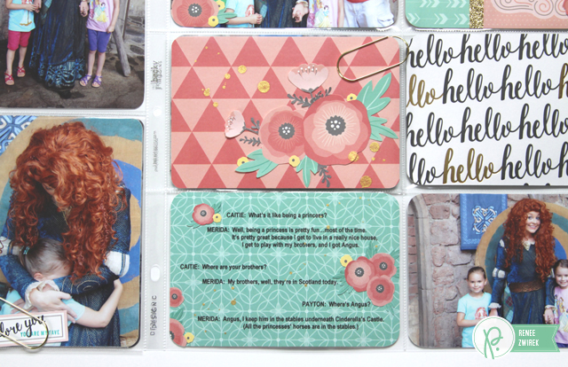 Disney Project Life Album Pages - Meeting Merida by @Renee Zwirek using the #JHCottageLiving collection by @PebblesInc. and and @Tatertots and Jello .com