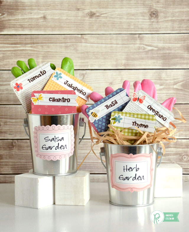 Garden Gift Containers by @popperandmimi using @pebblesinc Home Grown collection