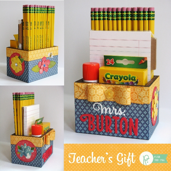 Teacher's Gift Box by Mendi Yoshikawa using the #HomeGrown collection from @PebblesInc. @SnippetsByMendi