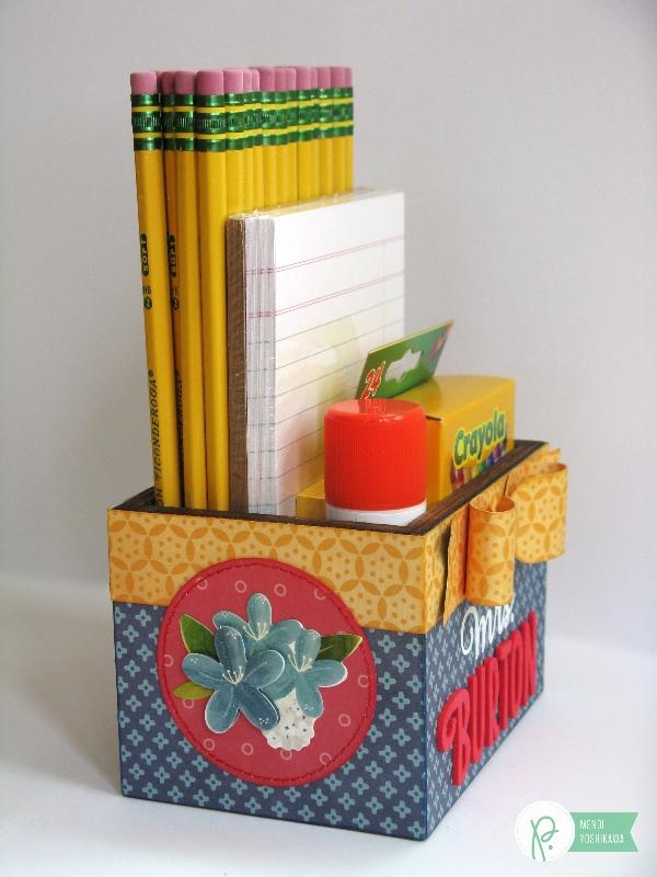 Teacher's Gift Box by Mendi Yoshikawa using the #HomeGrown collection from @PebblesInc. @SnippetsByMendi