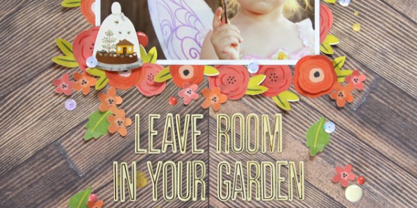 Garden Scrapbooking Layouts