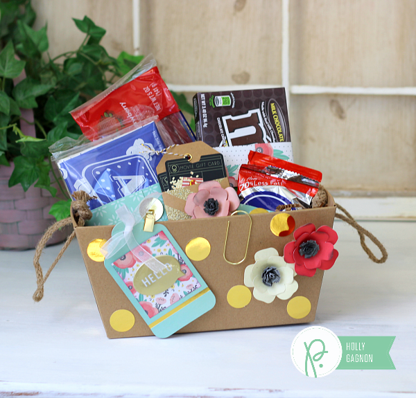 Movie Theater Gift Box by @ribbonsandglue made with @pebblesinc Cottage Living collection.  Such a simple, easy gift great for anyone!