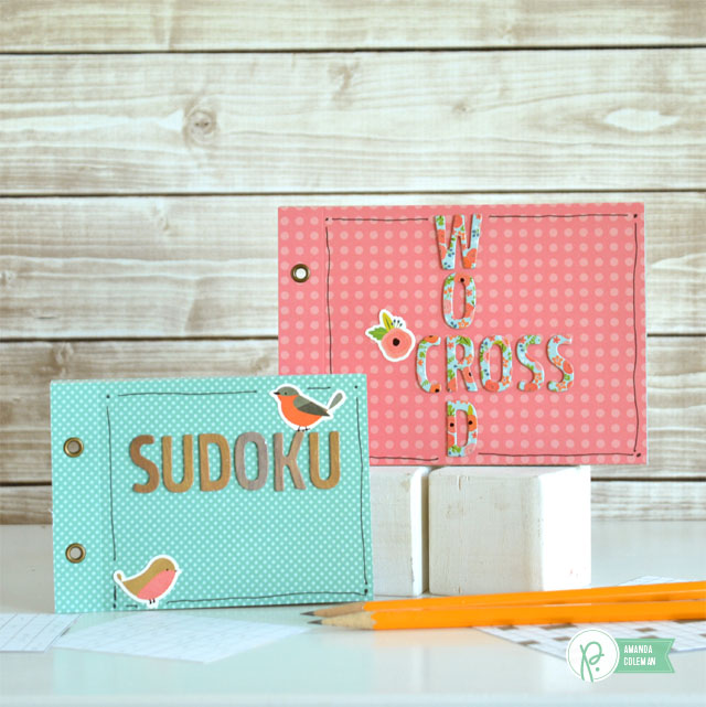 Easy Sudoku and Crossword Activity Books by @amanda_coleman1 using @pebblesinc Happy Day collection