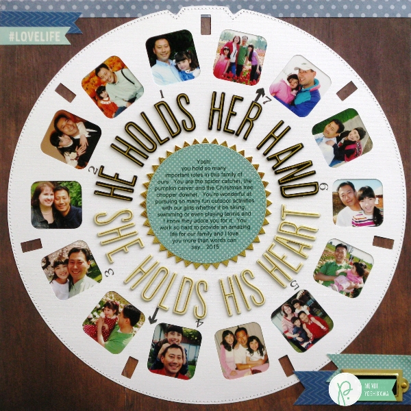 Father's Day Viewmaster Layout by Mendi Yoshikawa using the various collections by @PebblesInc. @SnippetsByMendi
