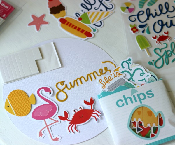 @pebblesinc Fun in the Sun puffy stickers and cardstock shapes
