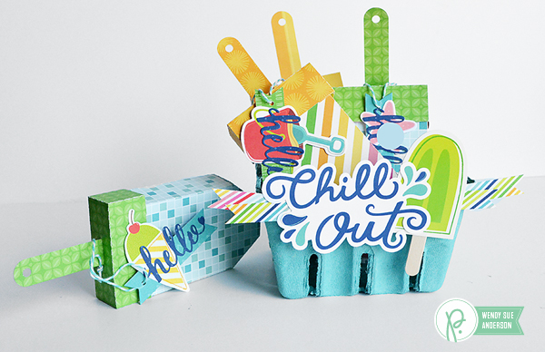 """A quick gift project by @wendysuea featuring the """"Fun in the Sun"""" Collection by @pebblesinc."""