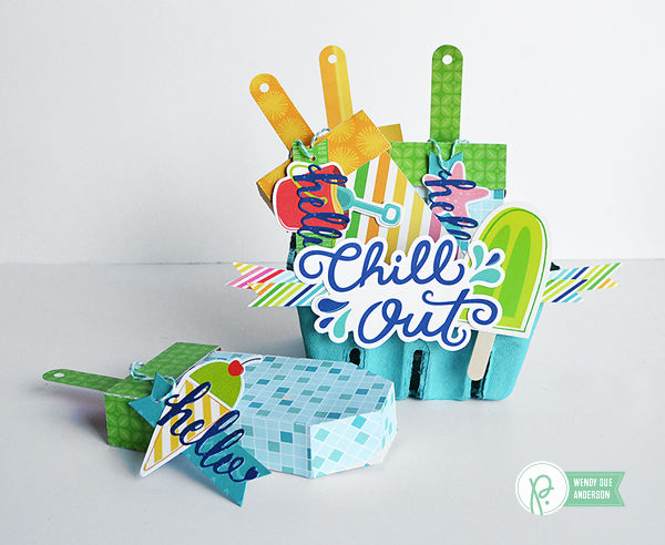 "A quick gift project by @wendysuea featuring the ""Fun in the Sun"" Collection by @pebblesinc."