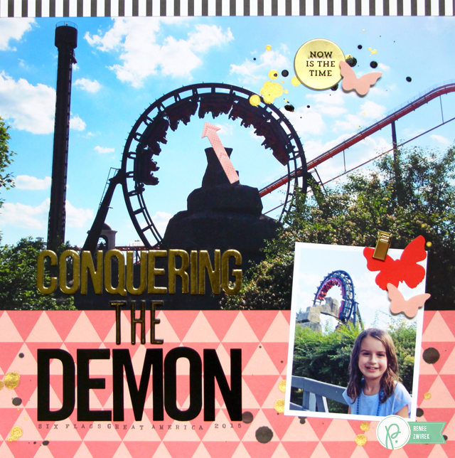 Conquering the Demon by @Renee Zwirek using the #JHCottageLiving and #JHHomeMade collections by @PebblesInc. and @Tatertots and Jello .com
