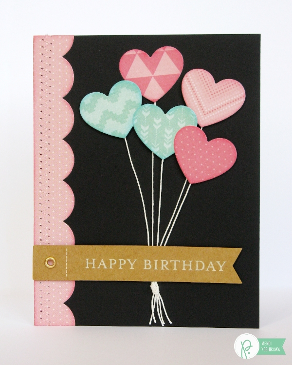 Birthday Card with built-in Gift Card Holder by Mendi Yoshikawa using #CottageLiving collection from @PebblesInc. @SnippetsByMendi