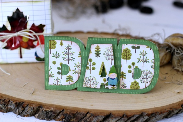 Father's Day Card made with @pebblesinc Home Grown collection designed by @ribbonsandglue