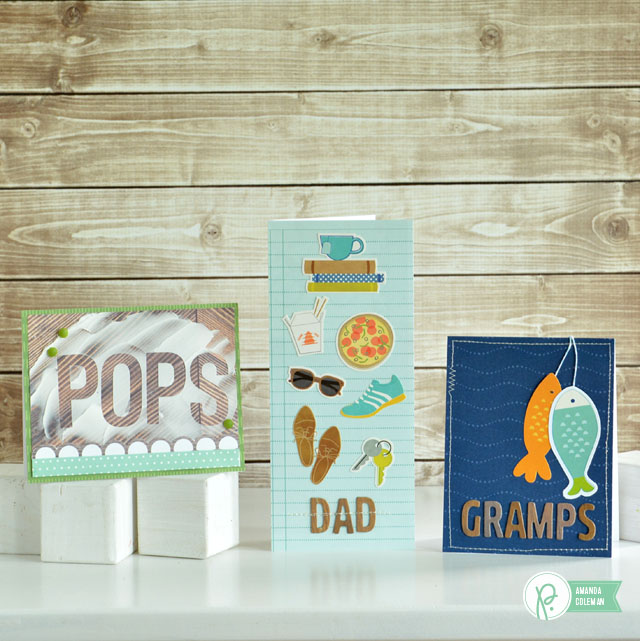 Father's Day Cards by @amanda_coleman1 using three different @pebblesinc collections.