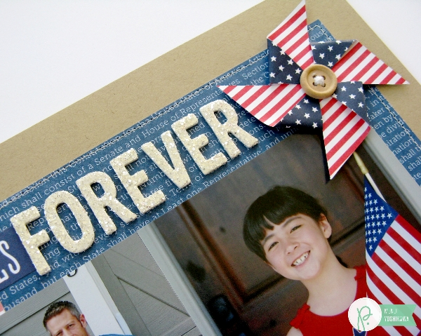 Patriotic Fourth of July Layout by Mendi Yoshikawa using #Americana collection from @PebblesInc. @SnippetsByMendi