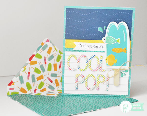 "Father's Day Cards and Envelopes featuring the ""Fun in the Sun"" collection by @wendysuea for @pebblesinc"