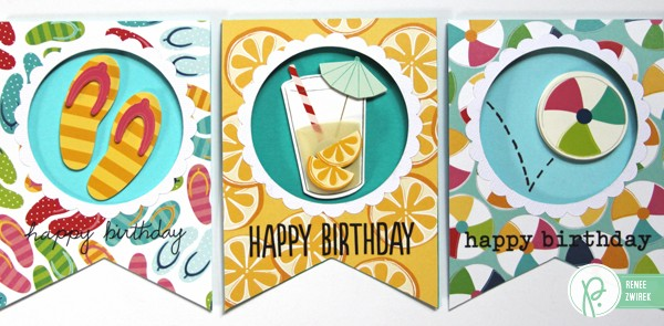Banner Shaped Birthday Cards