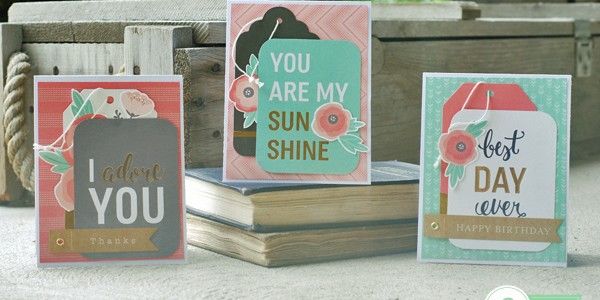 Easy Cards using the Cottage Living Collection