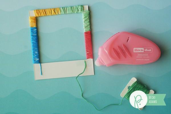 How to create Wrapped Polaroid Frames by @jbckadams (Becki Adams) for @Pebblesinc