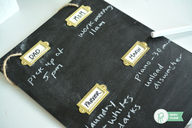 DIY Chalkboard To-Do List by @amanda_coleman1 using @pebblesinc  Cottage Living collection