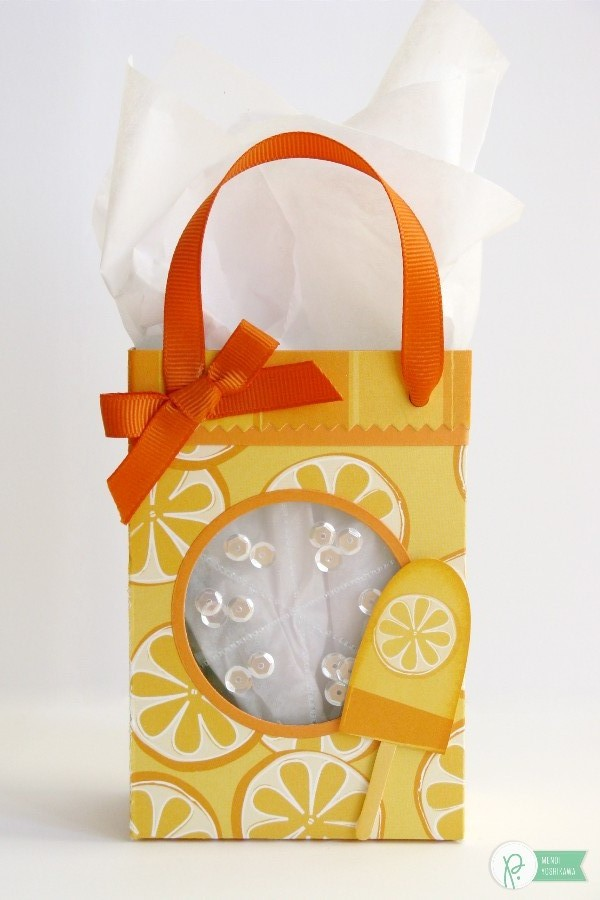 Summer Shaker Citrus Gift Bag by Mendi Yoshikawa using the #FunInTheSun collection by @PebblesInc. @SnippetsByMendi