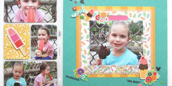 Sweet Treat layout with a Pocket Page