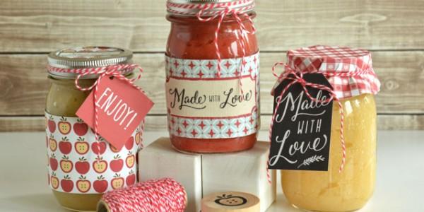 Applesauce Gift Jars