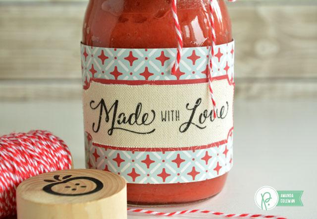 Applesauce Gift Jars by @amanda_coleman1 using Harvest by @pebblesinc