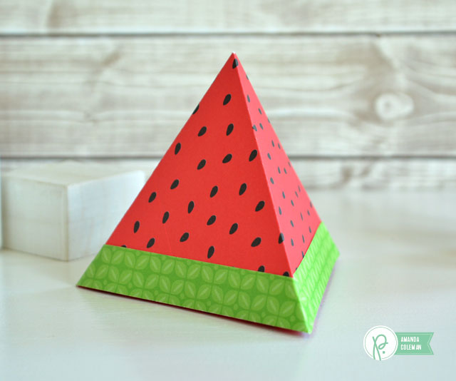 Geometric Summer Fruit by @amanda_coleman1 using @pebblesinc patterned paper