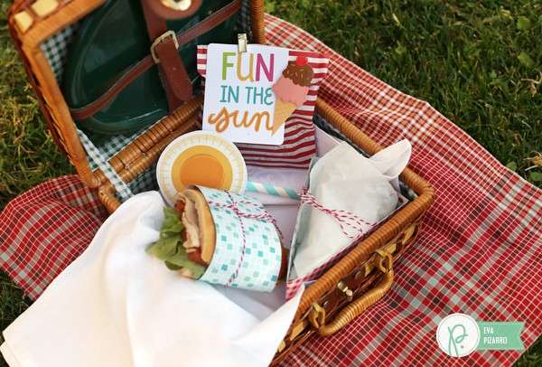 Picnic pie box by @evapizarrov using the #FunInTheSun collection from @pebblesinc