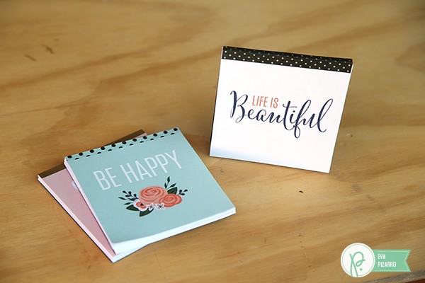 DIY Notepads made by @evapizarrov using #DIYHome from @pebblesinc