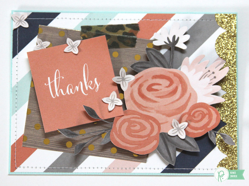 Thank You cards by @reneezwirek using the #JHDIYHome and #JHHomeMade collections by @PebblesInc. and @Tatertots and Jello .com