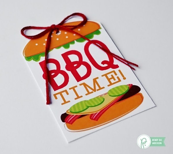 "Quick BBQ Hostess Gift by @wendysuea with the ""Fun in the Sun"" collection by @PebblesInc."