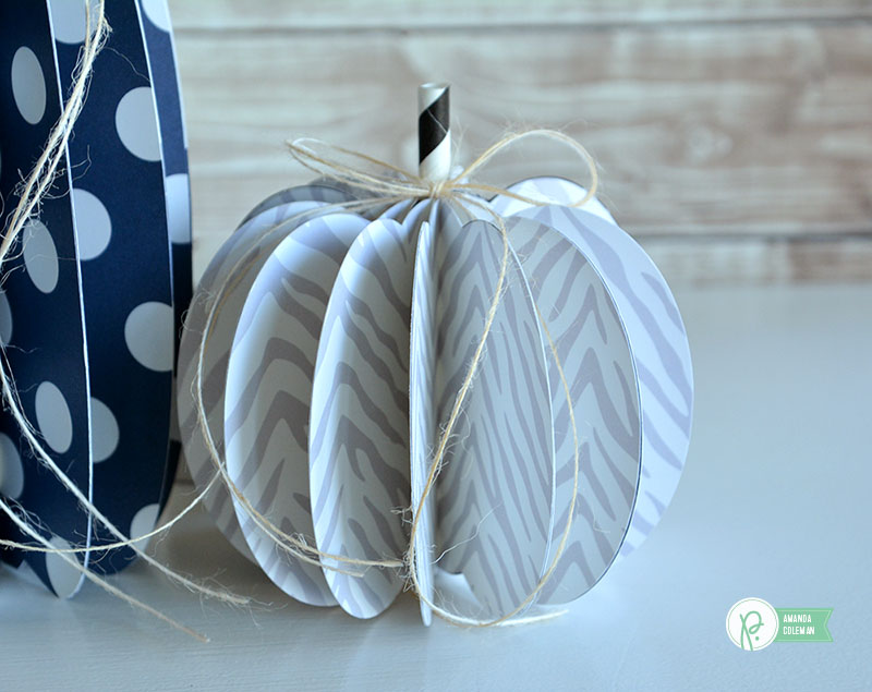Easy 3D Paper Pumpkins by @amanda_coleman1 using @pebblesinc DIY Home collection