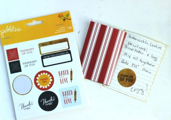 Easy recipe card idea made with the @pebblesinc Harvest collection by @ribbonsandglue
