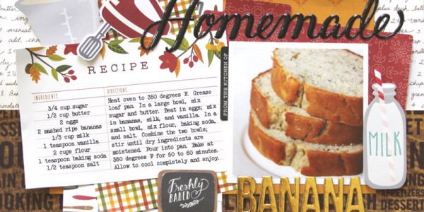 Homemade Banana Bread layout