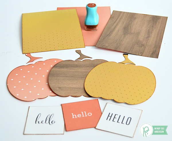 """Hello Fall"" Pumpkin Card Set by @Wendysuea for @PebblesInc with the ""DIY Home"" collection"