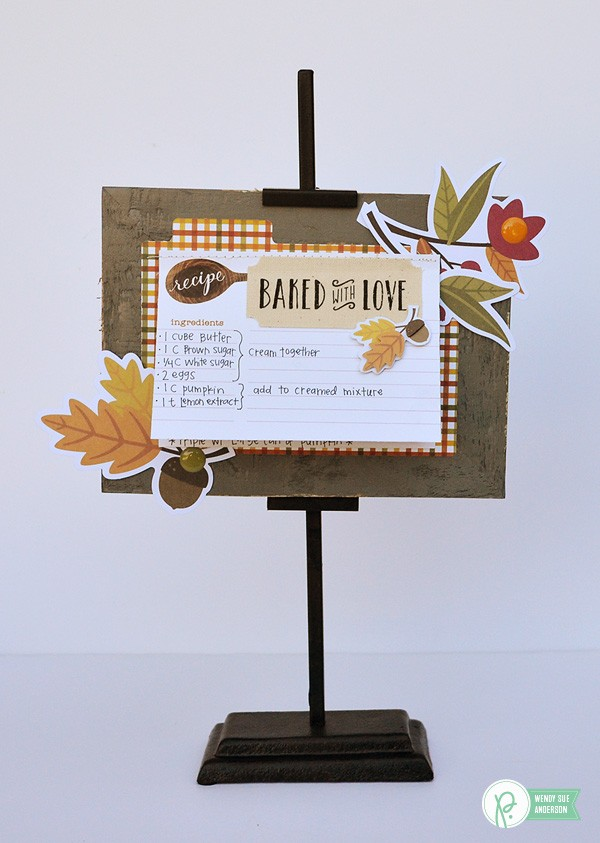 "A quick gift with a favorite recipe - project created by @wendysuea with the ""Harvest"" collection by @pebblesinc!"