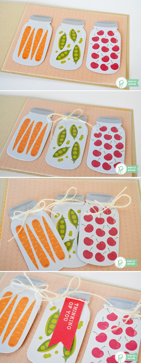 """Quick and Easy Cards by @wendysuea with the """"Harvest"""" collection by @Pebblesinc."""