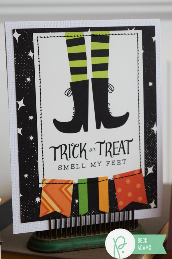 Creating Halloween Cards using punches by @jbckadams (Becki Adams) for @Pebblesinc