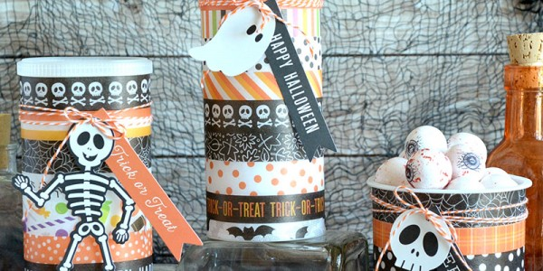 Upcycled Halloween Treat Containers