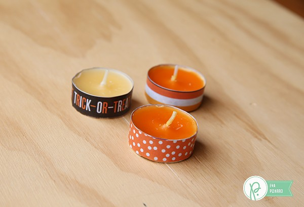 Beautiful Halloween candle holders made by @evapizarrov using the new #Boo! collection from @pebblesinc