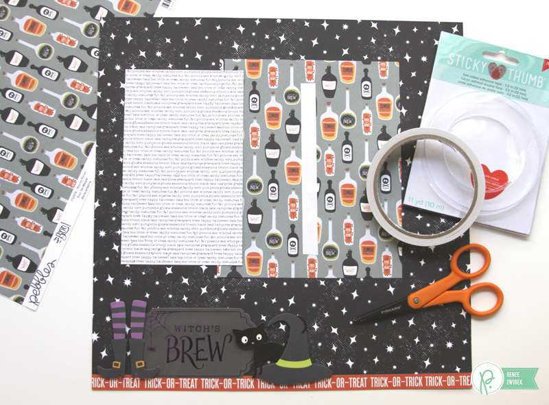 Witch's Brew layout by @reneezwirek using the #Boo! collection by @Pebbles Inc.