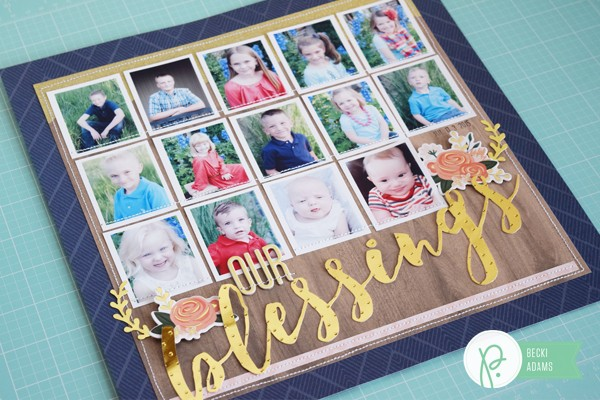 How to Create a layout with 14 photos by @jbckadams for @Pebblesinc