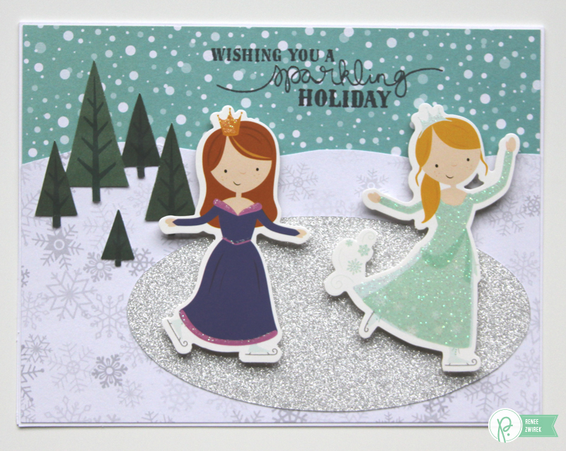 Teacher Christmas cards by @reneezwirek using the #WinterWonderland collection by @PebblesInc.