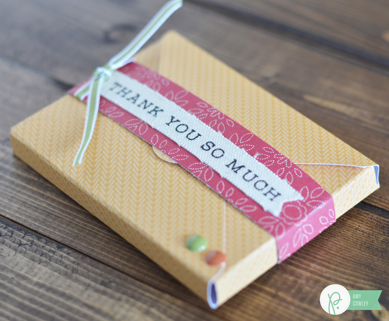 Tell the Thanksgiving host thank you with this quick and simple gift card holder from @thehappyscraps made using the Harvest Collection from @pebblesinc.