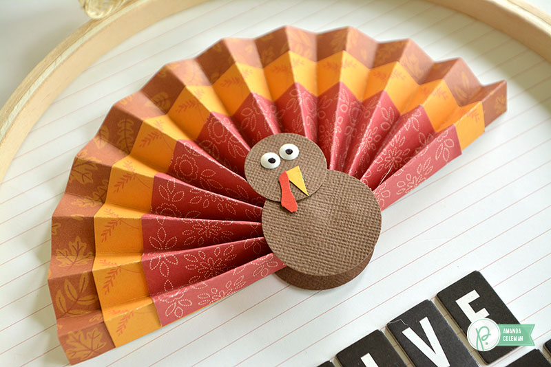 Turkey Hoop Decor by @amanda_coleman1 using @pebblesinc Harvest collection